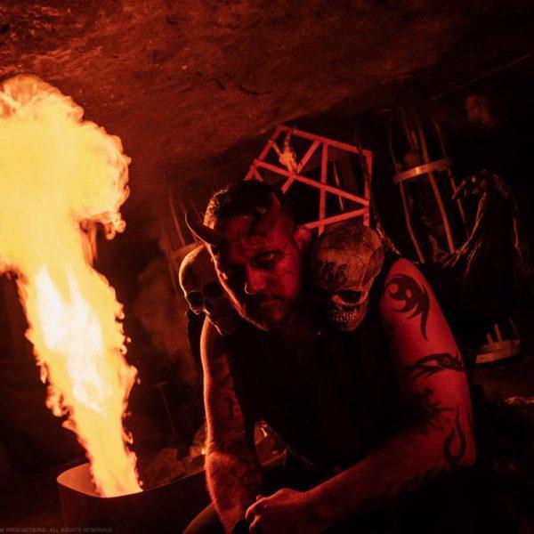 fire demon backlit